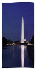 Washington Monument At Sunset Hand Towel