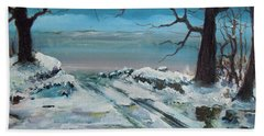 Hand Towel featuring the painting Washoe Winter by Dan Whittemore