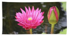 Water Lily Bath Towel by Donna  Smith