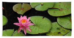 Water Lily Bath Towel by Kay Lovingood