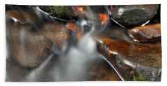 Water Over Rocks Bath Towel by Kay Lovingood