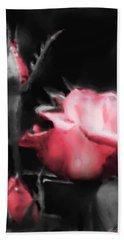 Watercolor Rose Bath Towel by Michelle Joseph-Long