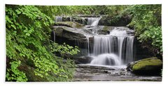 Waterfall Near Mabbitt Spring Bath Towel