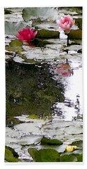 Bath Towel featuring the digital art Waterlilies by Victoria Harrington