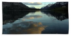 Waterton Lake Sunset Canada Bath Towel by Vivian Christopher