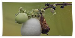 Webbed Berry Hand Towel by Eunice Gibb