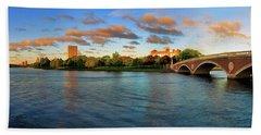 Weeks' Bridge Panorama Hand Towel by Rick Berk