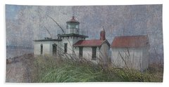 West Point Lighthouse - Seattle Hand Towel by Jeff Burgess