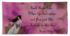When Life Had Wings Hand Towel by Patricia Griffin Brett