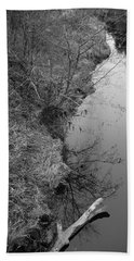 Hand Towel featuring the photograph White Branch Riverside  by Kathleen Grace
