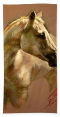 White Horse Bath Towel