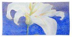 White Lily Bath Towel
