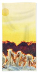 Hand Towel featuring the photograph White Pelicans In Sun by Dan Friend