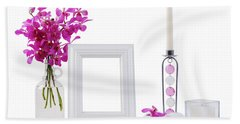 White Picture Frame In Decoration Hand Towel