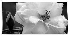 White Rose Bath Towel by Michelle Joseph-Long