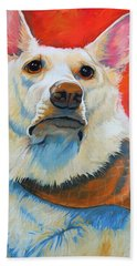 White Shepherd Hand Towel