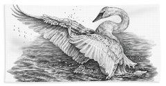 White Swan - Dreams Take Flight Hand Towel