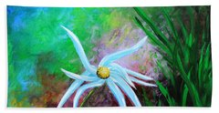 Hand Towel featuring the painting Wild Daisy 2 by Kume Bryant