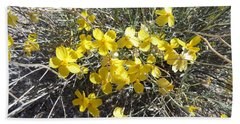Hand Towel featuring the photograph Wild Desert Flowers by Kume Bryant