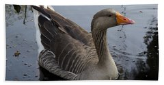 Bath Towel featuring the photograph Wild Greylag Goose by Lynn Palmer