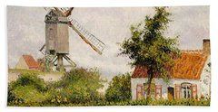 Windmill At Knokke Bath Towel