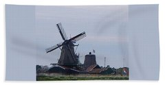 Hand Towel featuring the photograph Windmill by Manuela Constantin