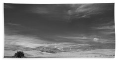 Bath Towel featuring the photograph Windmills In The Distant Hills by Kathleen Grace