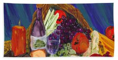 Wine Cornucopia Bath Towel