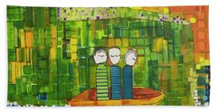 Bath Towel featuring the painting Wink Blink And Nod by Donna Howard