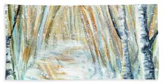 Bath Towel featuring the painting Winter by Shana Rowe Jackson