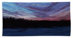 Winter Sunset Bath Towel