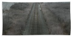 Hand Towel featuring the photograph Winter Tracks  by Neal Eslinger