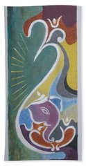 Hand Towel featuring the painting Wisdom And Peace by Sonali Gangane