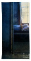 Woman In Nightgown In Bed By Window Hand Towel