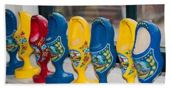 Bath Towel featuring the digital art Wooden Shoes by Carol Ailles