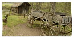Wooden Wagon Hand Towel