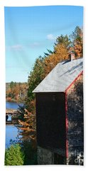 Bath Towel featuring the photograph Working Gristmill by Barbara McMahon