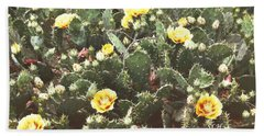 Yellow Cactus Hand Towel