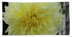 Yellow Dahlia Hand Towel