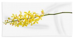 Bath Towel featuring the photograph Yellow Orchid Bunch by Atiketta Sangasaeng