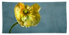 Yellow Poppy Bath Towel