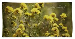 Yellow Rabbitbrush Bath Towel by Lana Trussell