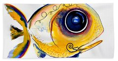 Yellow Study Fish Bath Towel
