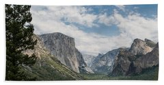 Yosemite Valley From Tunnel View At Yosemite Np Hand Towel