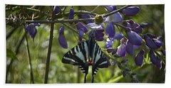 Zebra Swallowtail Butterfly 2 Hand Towel