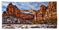 Zion Canyon In Utah Hand Towel