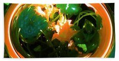 Hand Towel featuring the photograph Zucchini Flowers Under Glass by George Pedro