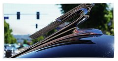 1941 Cheverolet Hood Ornament Hand Towel by Ansel Price