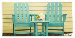 Blue Adirondack Chairs  Bath Towel