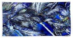 Blue Palms Hand Towel